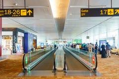 De internationale luchthaven van New Delhi, India Stock Afbeeldingen