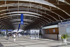 De Internationale Luchthaven van Shanghai Stock Afbeelding