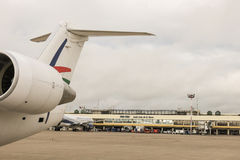 De Internationale Luchthaven van Viruviru Stock Fotografie