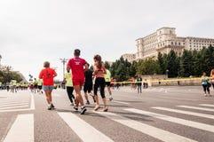 2015 de Internationale Marathon van Boekarest Stock Afbeelding
