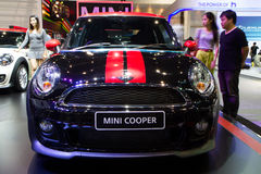De Internationale Motor Expo van Mini Coper Car On Thailand Royalty-vrije Stock Fotografie