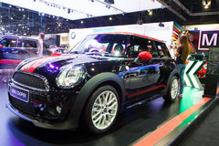 De Internationale Motor Expo van Mini Coper Car On Thailand Stock Afbeelding