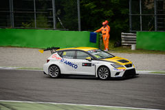 De Internationale Reeks SEAT Leà ³ n van TCR in Monza 2015 Royalty-vrije Stock Foto