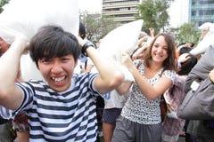Strijd 2013 van het Hoofdkussen van Hong Kong de Internationale Royalty-vrije Stock Afbeeldingen