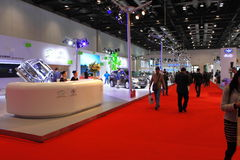 2014 de Internationale Tentoonstelling van China op Groene en Energie Efficiënte Voertuigen Stock Afbeeldingen