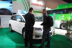 2014 de Internationale Tentoonstelling van China op Groene en Energie Efficiënte Voertuigen Stock Foto's
