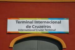 De internationale terminal van het cruiseschip in Porto Maravilha district o stock foto