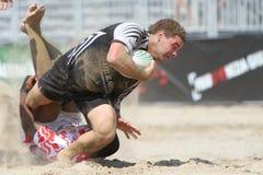 De internationale Toernooien van het Rugby van het Strand Stock Afbeeldingen