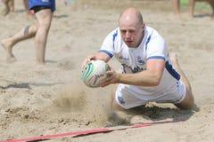 De internationale Toernooien van het Rugby van het Strand Stock Fotografie