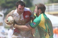 De internationale Toernooien van het Rugby van het Strand Stock Afbeelding