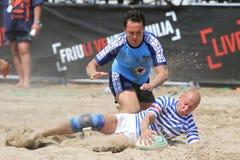 De internationale Toernooien van het Rugby van het Strand Stock Foto's