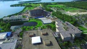 De Internationale Universitaire campus van Florida stock footage