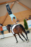 De internationale Vaulting concurrentie, Slowakije Stock Foto's