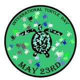 De internationale vectorillustratie van de schildpaddag Royalty-vrije Stock Fotografie