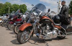 De internationale verzameling van Harley-Davidson Stock Fotografie
