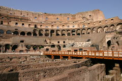 De interne brede hoek van Rome Colosseum Stock Fotografie