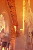 De INTERNE MENING van de grootste moskee van de V.A.E, SJEIK ZAYED GRAND MOSQUE bepaalde van in ABU DHABI de plaats Stock Foto