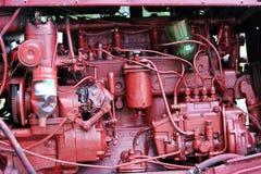 de interne structuur van de tractor met de geïmproviseerde wijzigingen royalty-vrije stock foto