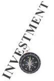 De investering en het Kompas van de krantekop Stock Afbeelding