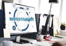 De investering investeert de Begrotingsconcept van het Financiëngeld stock afbeelding