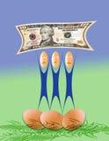 De Investering van het geld Stock Afbeeldingen