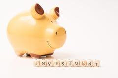 De Investering van het spaarvarken Royalty-vrije Stock Foto's