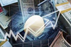 De Investeringen die van het nestei voor Pensionering groeien royalty-vrije stock fotografie