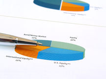 De investeringsgrafiek van de pastei. Royalty-vrije Stock Foto
