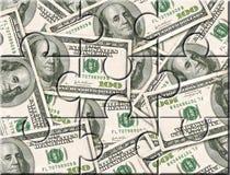 De investeringsraadsel van het geld Stock Foto's