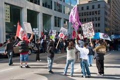 De inwoners protesteren TGV in Ottawa Stock Afbeeldingen