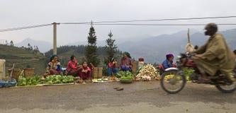 De Inwoners van bloemh'mong van Vietnam Royalty-vrije Stock Foto