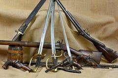 De inzameling bewapent drie Stock Afbeelding