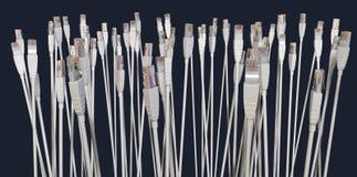 De Inzameling die van de Kabel van Ethernet naar omhoog onder ogen ziet royalty-vrije illustratie
