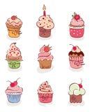 De inzameling - mooie cakes Royalty-vrije Stock Foto's