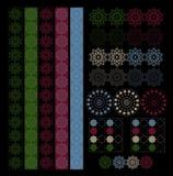 De inzameling oriënteert Arabisch textuurontwerp met grenzen vector illustratie