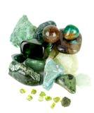 De inzameling van Amazonite en van de gem. Royalty-vrije Stock Afbeeldingen