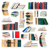 De inzameling van boeken stock foto