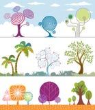 De Inzameling van bomen Stock Fotografie
