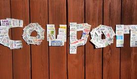 De inzameling van coupons stock fotografie
