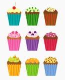 De inzameling van Cupcakes Royalty-vrije Stock Afbeeldingen