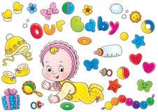 De inzameling van de baby Stock Foto's