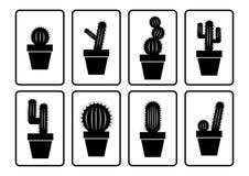 De inzameling van de cactus royalty-vrije illustratie