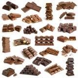 De inzameling van de chocolade stock foto