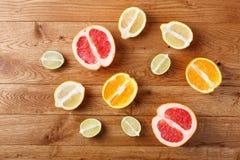 De inzameling van de citrusvrucht Stock Foto's
