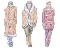 De inzameling van de de modeshowwinter van mensen Royalty-vrije Stock Foto