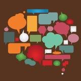 De inzameling van de dialoogbellen van de kleur Stock Afbeelding