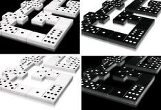 De inzameling van de domino Royalty-vrije Stock Afbeeldingen
