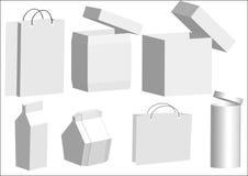 De inzameling van de doos Vector Illustratie