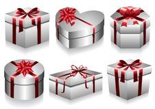 De Inzameling van de Dozen van de gift Stock Foto