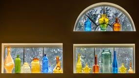 De inzameling van de glasfles Stock Afbeelding